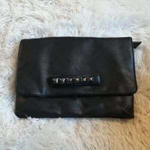 Handbags - Faux leather studded clutch